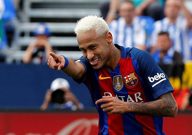 Neymar da Silva, delantero brasileño del FCB (archivo)