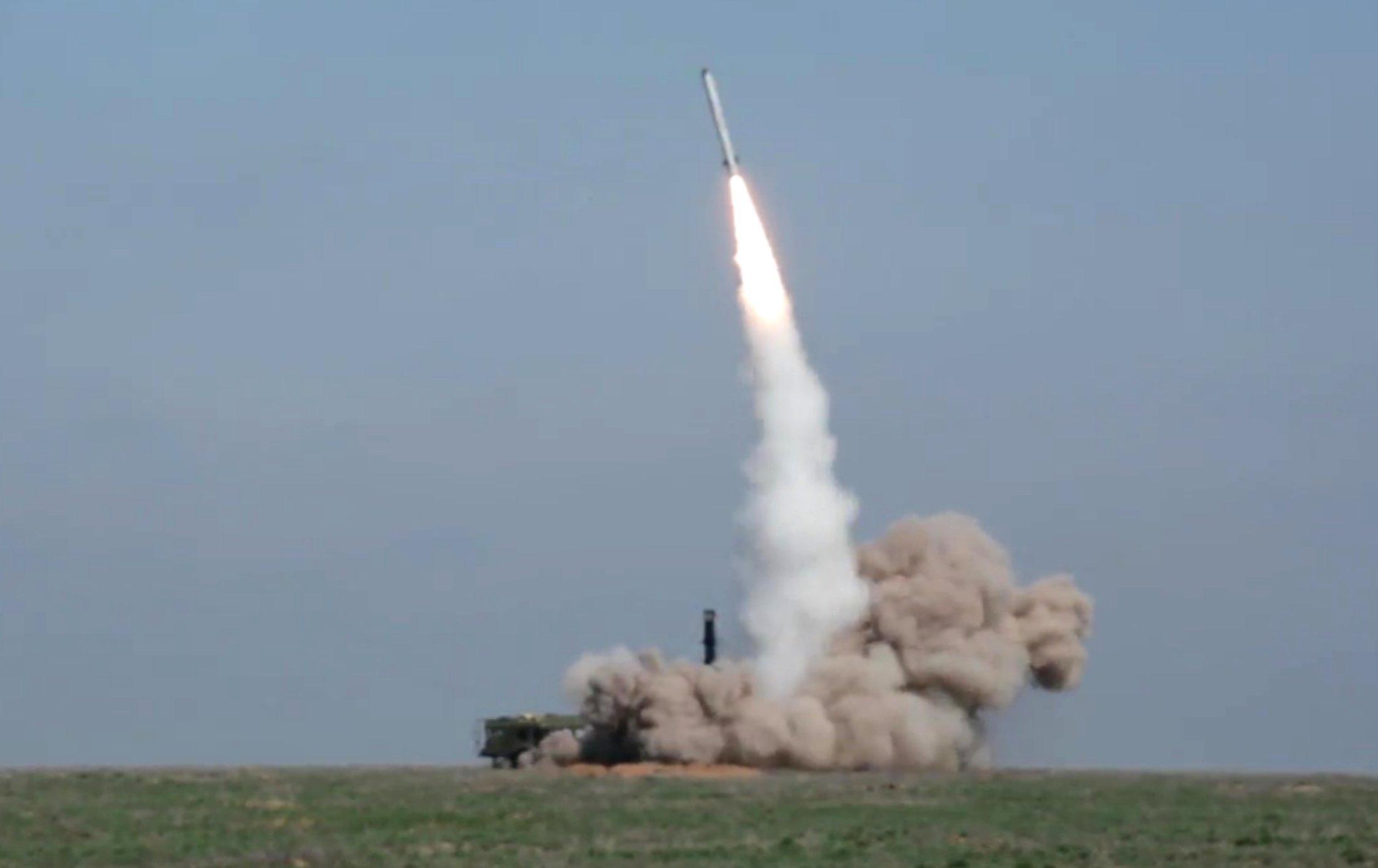 Lanzamiento de un misil ruso