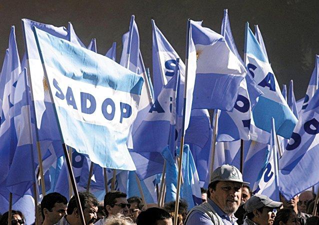 Los partidarios de la Confederación General del Trabajo de Argentina (archivo)