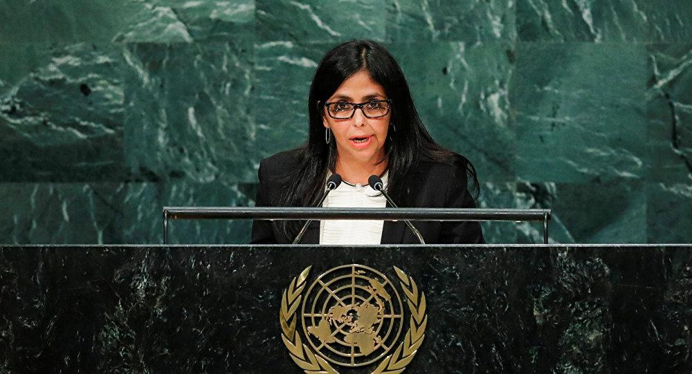 Delcy Rodríguez, canciller de Venezuela