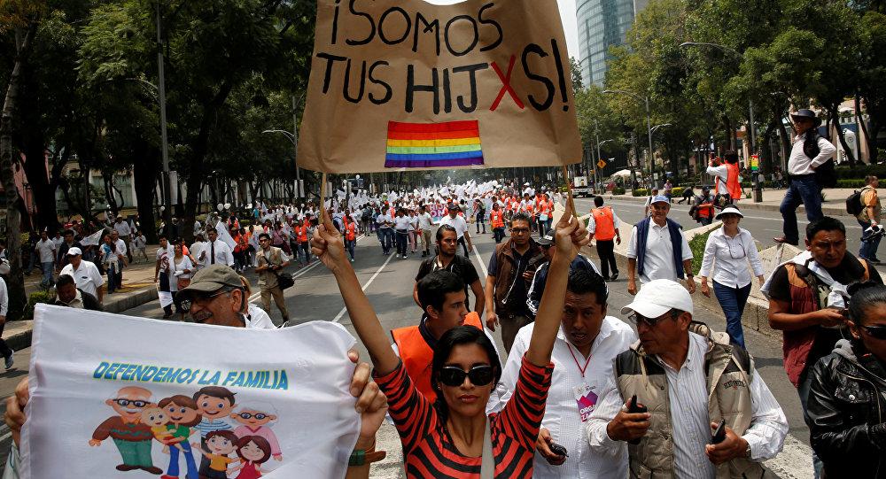 Una marcha en la ciudad de México (archivo)