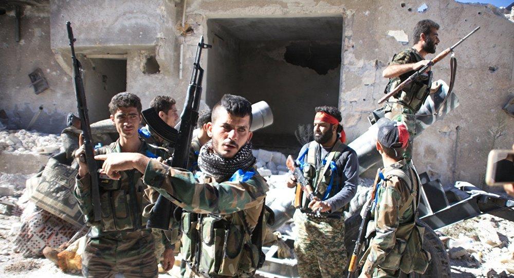 Ejército sirio en Handarat (archivo)