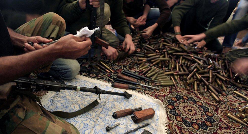 Combatientes del Ejercito Libre Sirio en Alepo, Siria
