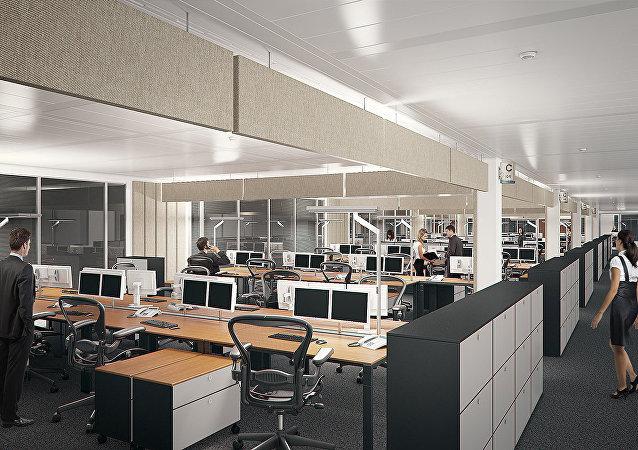 Una oficina abierta