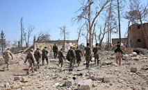 Fuerzas gubernamentales sirias en Alepo