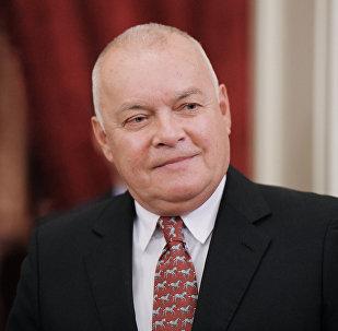 Dmitri Kiseliov, director general de la agencia Rossiya Segodnya (archivo)