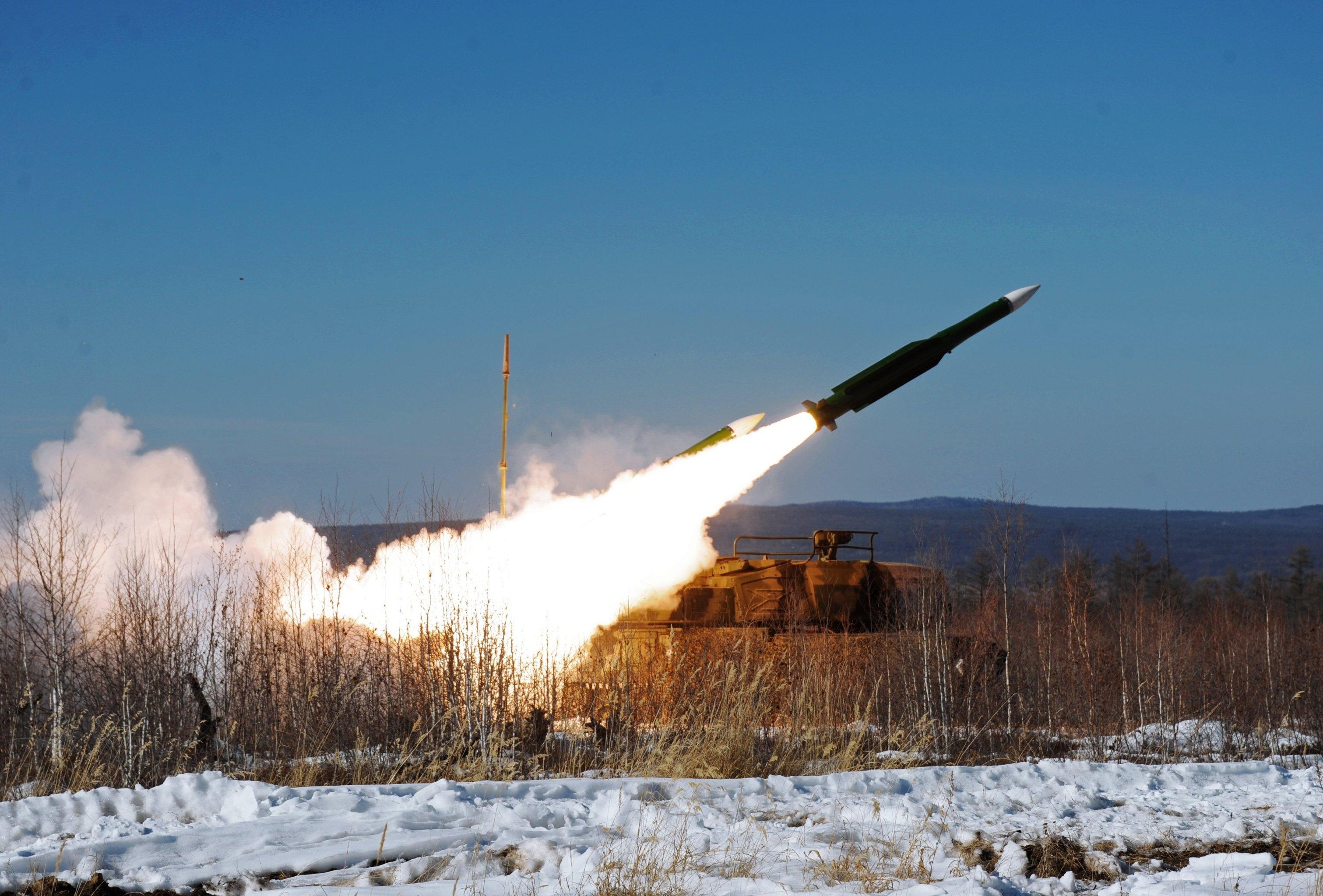Lanzamiento de un misil Buk (archivo)