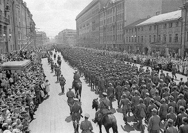 Prisioneros de guerra alemanes en Moscú