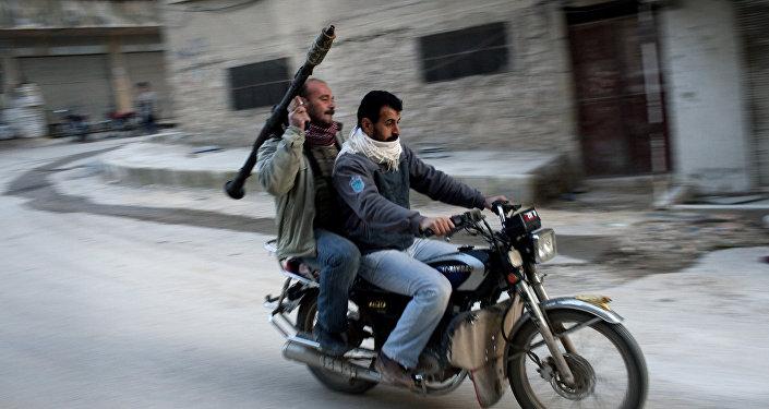 Miembros del Ejército Libre Sirio
