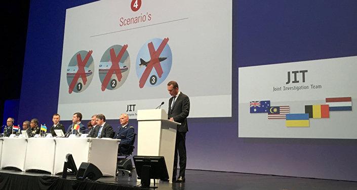 La presentación de los resultados de la investigación internacional sobre el MH17, el 28 de septiembre de 2016