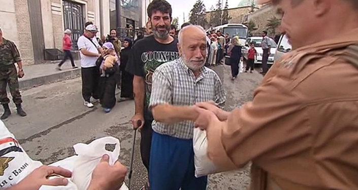 Entrega de la ayuda humanitaria en las zonas controladas de Alepo