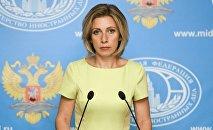M. Zajárova, portavoz del Ministerio de Asuntos Exteriores