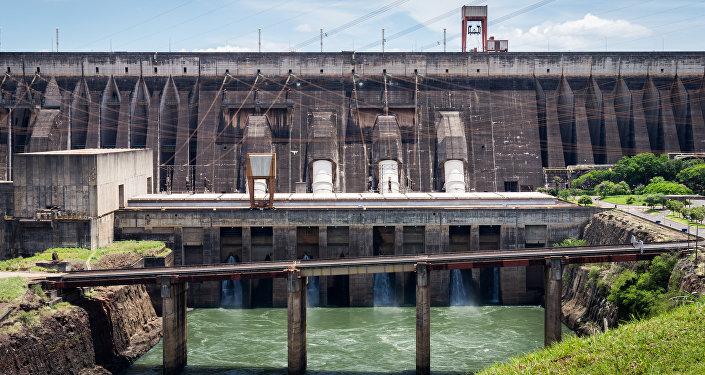 Una central hidroelétrica