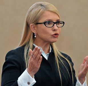 Yulia Timoshenko, líder del partido parlamentario Batkivschina