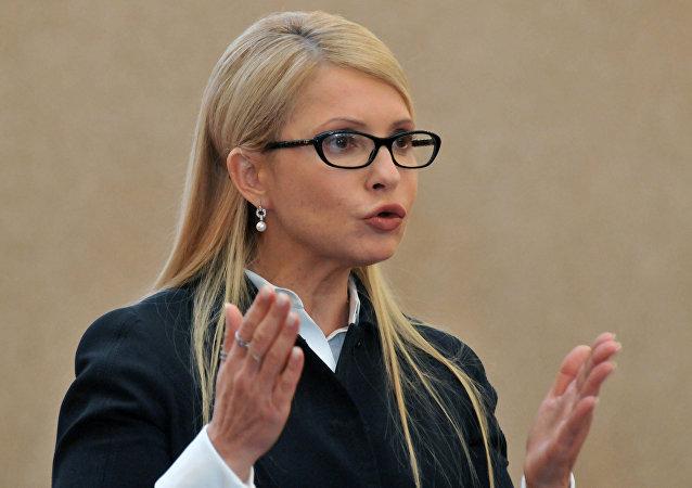 Yulia Timoshenko, la líder del partido opositor ucraniano Batkivschina