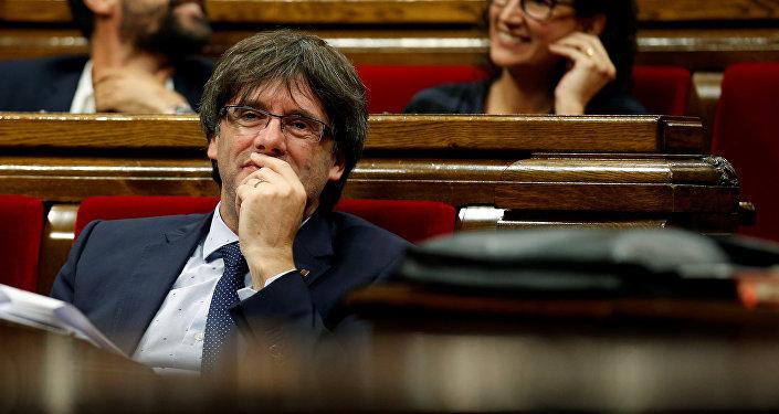 Carles Puigdemont, presidente de Cataluña cesado