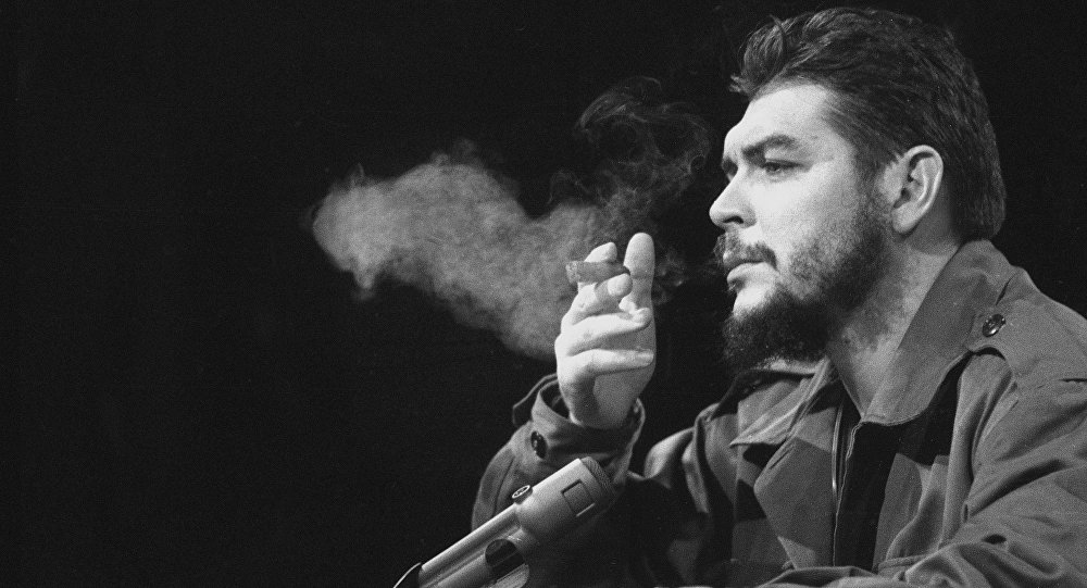 Latin American revolutionary Ernesto Che Guevara is seen in 1964.