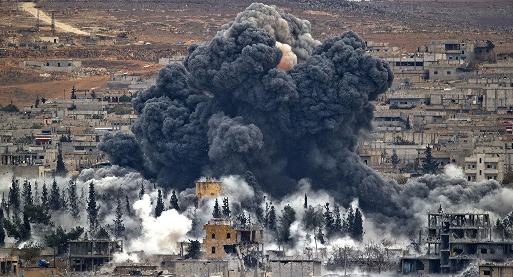 Ataque de la coalición liderada por EEUU en Siria (archivo)