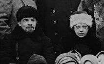 Vladímir Lenin y Nadezhda Krúpskaya (archivo)