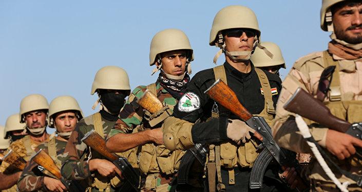 Soldados de fuerzas antiislamistas en Irak