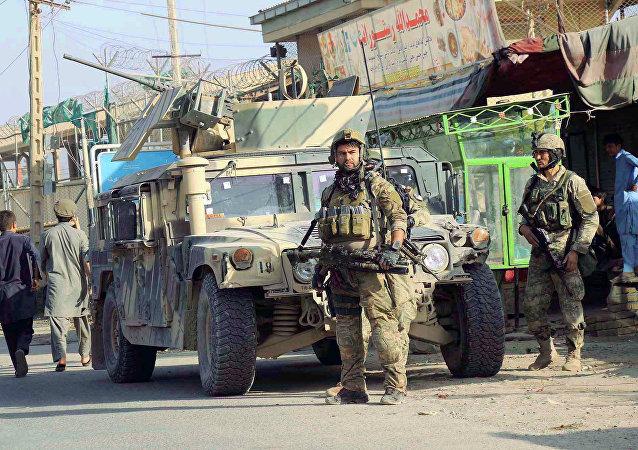 Las fuerzas de seguridad afganas en la ciudad de Kunduz