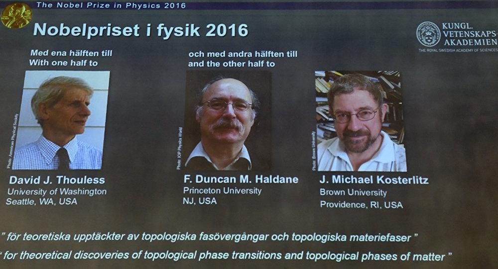 El Premio de Nobel de Física de 2016