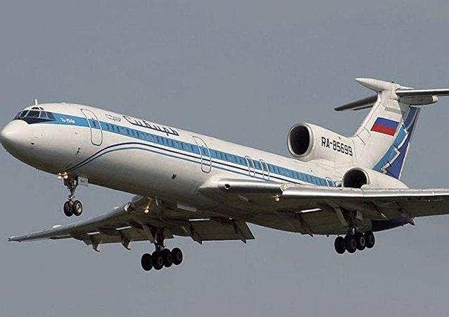 Tu-154M de la compañía Siberia Airlines similar al que cayó en el Mar Negro el 4 de octublre de 2001
