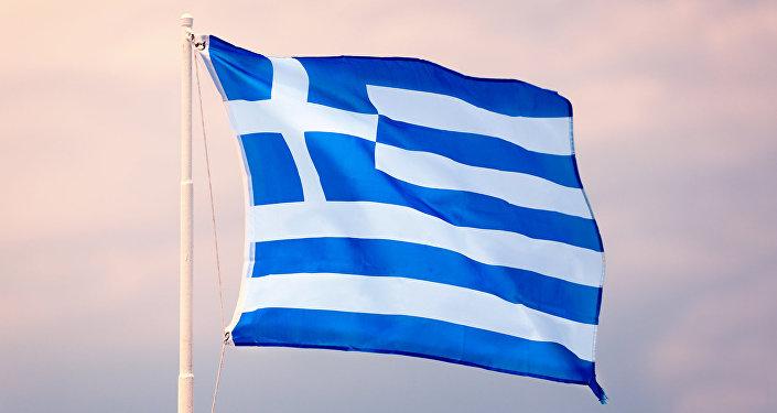 La bandera de Grecia