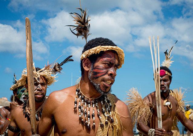 Artistas vanuatuenses representan a sus antepasados