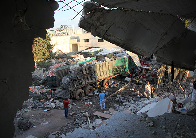 Un convoy humanitario de la ONU destruido en un bombardeo en Siria, el 19 de septiembre
