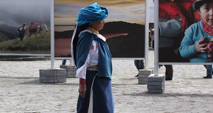 Mujer en Quito, Ecuador (archivo)