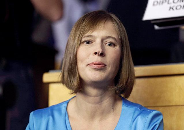 Kersti Kaljulaid, la presidenta de Estonia