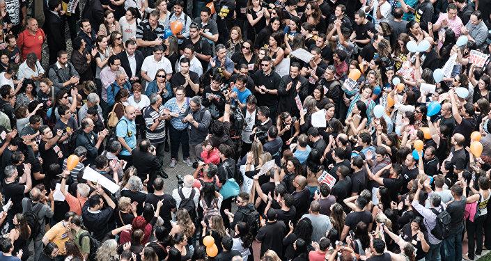Huelga en Brasil (archivo)