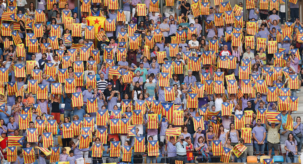 Las esteladas, banderas de Cataluña