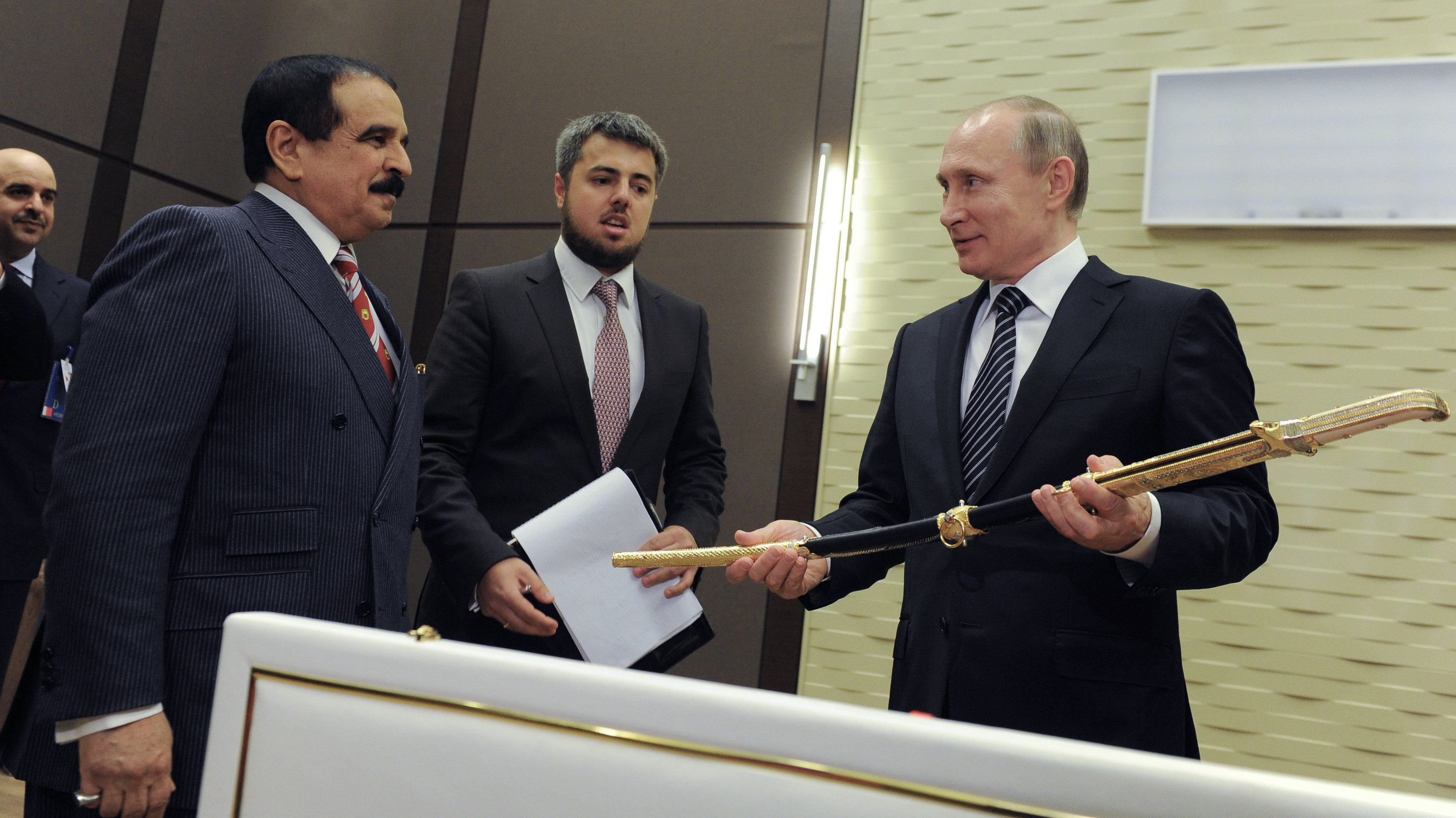 La espada del rey de Bahréin