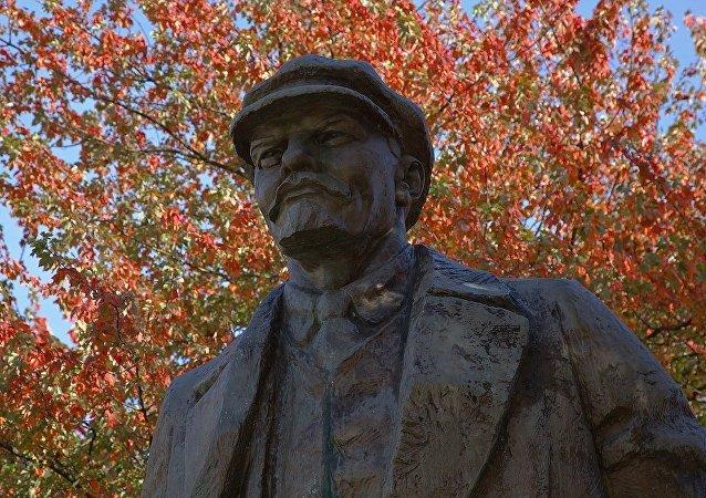 Un monumento de Lenin