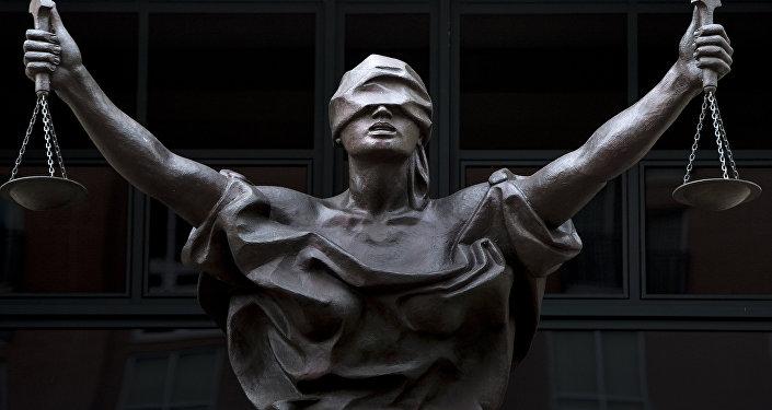 Una estatua de la Justicia
