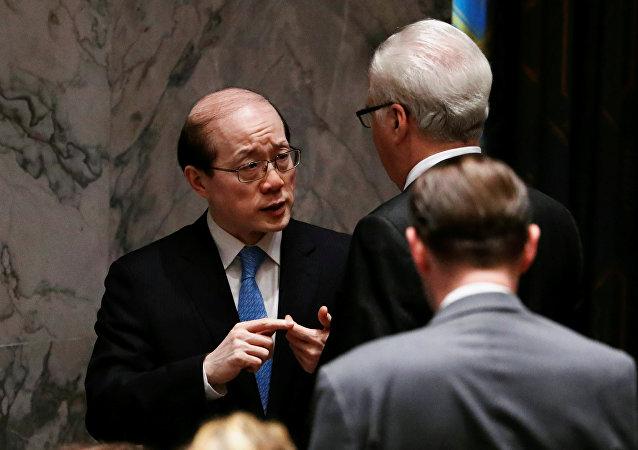 Liu Jieyi, embajador chino en la ONU