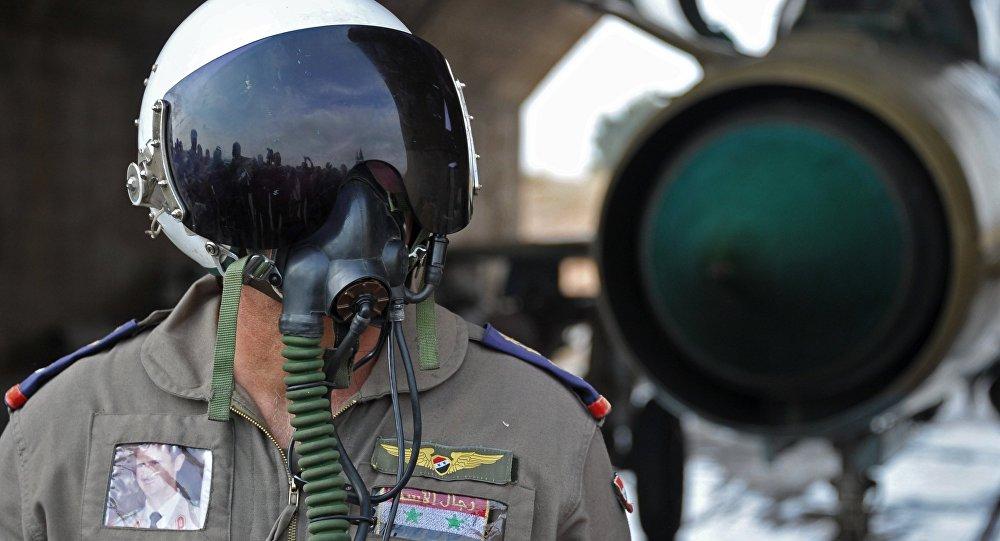 Piloto de la Fuerza Aérea siria