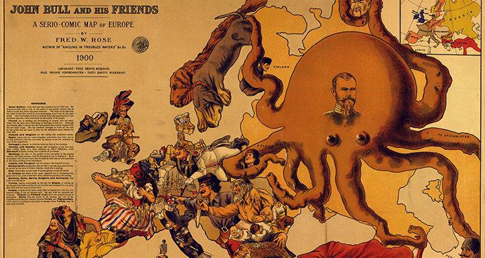 Mapa satírico de 1900