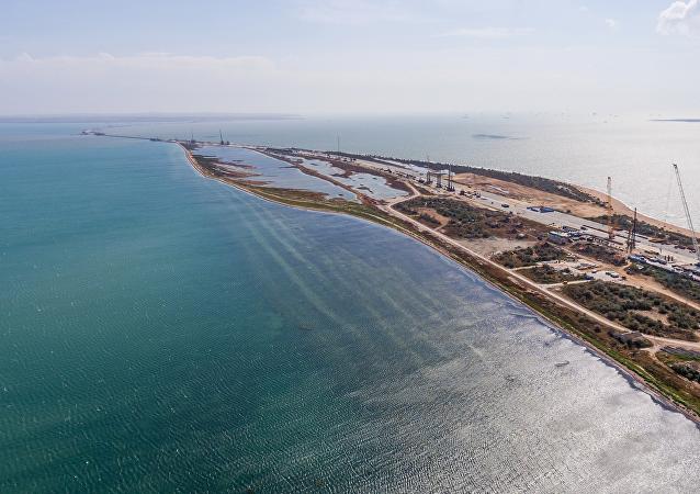 El avance de la construcción del puente de Crimea