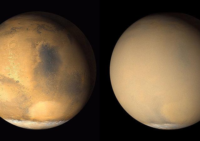 NASA Marte tormenta de polvo