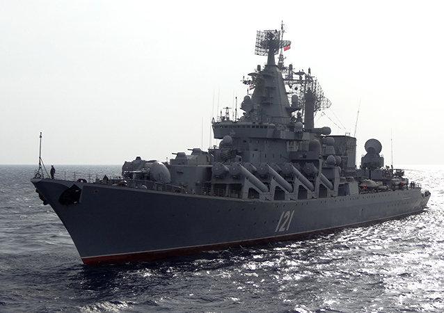 El buque ruso patrulla las costas sirias (archivo)