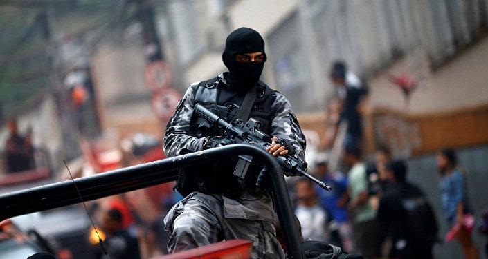 La policía en Río de Janeiro