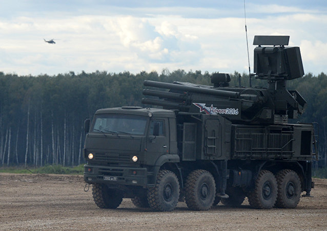 El sistema antiaéreo cañón-misil ruso Pántsir