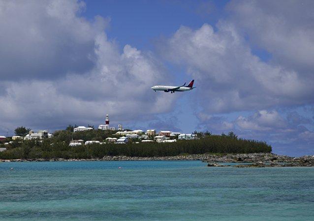 Un avión sobre las Bermudas (archivo)