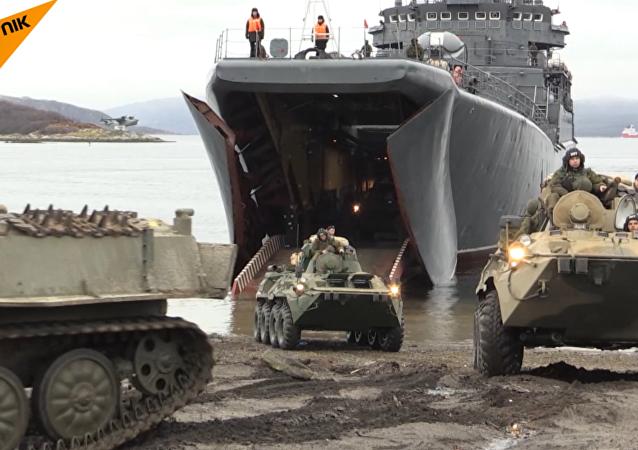 El desembarco de las tropas rusas en la bahía de Kola
