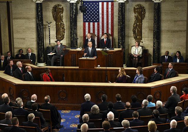Barack Obama, presidente de EEUU, interviene ante el Congreso estadounidense