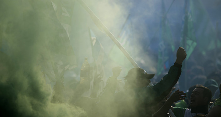 Miembros del sindicato de trabajadores durante una reunión sindical, en Buenos Aires, Argentina