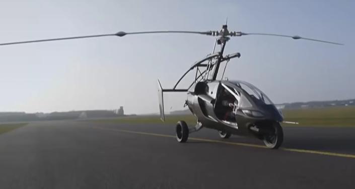 Un coche volador del futuro